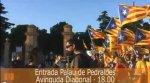 Concentració d'estelades a Pedralbes per a donar la benvinguda als ministres d'Afers Estrangers
