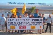 Esquerra CdM contra concertació i la cessió de terrenys públics per a l'escola privada
