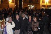 Representants d'ERPV a la concentració en solidaritat amb el Parc Alcosa